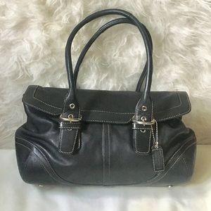 Coach Hamptons Soho full grain leather satchel